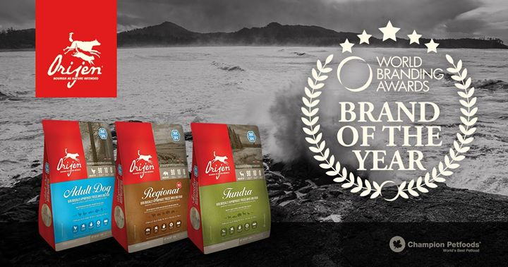 ORIJEN Freeze-Dried Food named Brand of the Year 2017